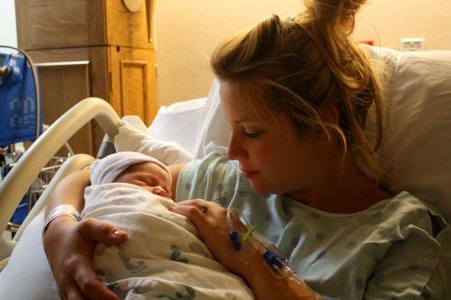 Mama Holding Caleb